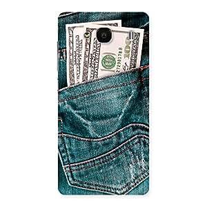 Impressive Money Money Colorful Jeans Back Case Cover for Redmi 2s