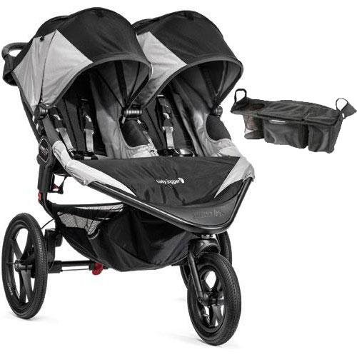Baby-Jogger-Summit-X3-Double-Jogging-Stroller-with-Parent-Console-Black-Gray