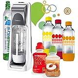 Sodastream - pack coolt classique - Machine à gazéifier l'eau avec 1 cylindre et 4 bouteilles + 2 concentrés