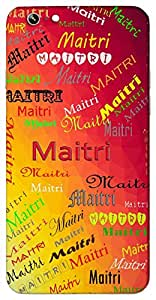 Maitri (Friendship) Name & Sign Printed All over customize & Personalized!! Protective back cover for your Smart Phone : Samsung Galaxy Note-4