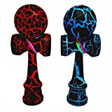 2-PACK - MINI KENDAMA TOY CO. - The Best Pocket Kendama For All Kinds Of Fun (not full size) - Awesome Colors: Black/Red and Black/Blue Kendama Set - Solid Wood - A Tool To Create Better Hand And Eye Coordination