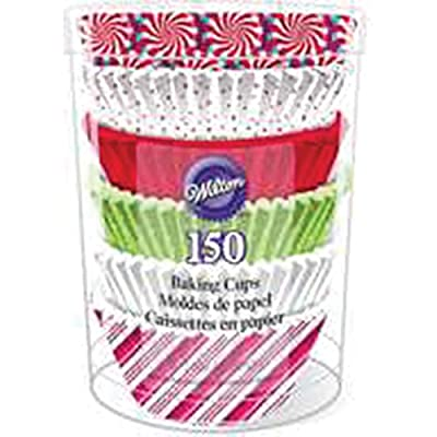 Wilton Assorted Holiday Baking Cups, 150-Count