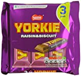 Nestlé Yorkie Raisin and Biscuit 159 g (Pack of 16, Total 48 Biscuits)