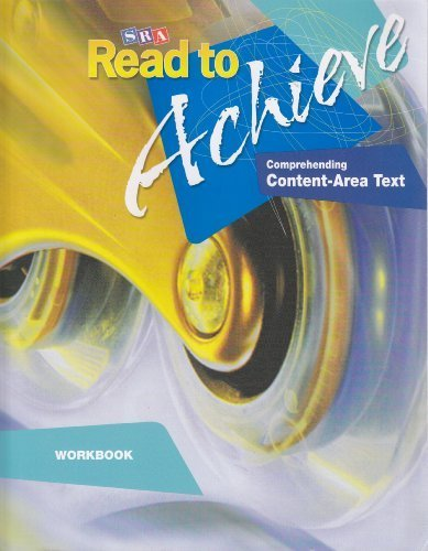 SRA Read to Achieve: Comprehending Content-Area Text (Workbook)