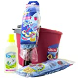 Vileda SuperMocio Cleaning Kit including Ecover all Purpose Cleaner
