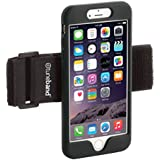TuneBand for iPhone 6/6S PLUS (not regular iPhone 6/6S), Premium Sports Armband with Two Straps and Two Screen Protectors, BLACK