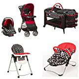 Baby Bundle Collection, Baby Gear Bundle Collection, Travel System, Play Yard, High Chair, Musical Swing or Bouncer (Mickey) by Disney (Color: Mickey, Tamaño: small, infant, newborn, baby)