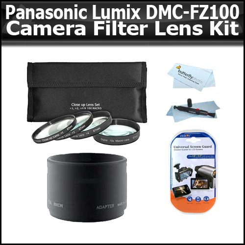 filters lens kit for panasonic lumix dmc fz100 14 1 mp