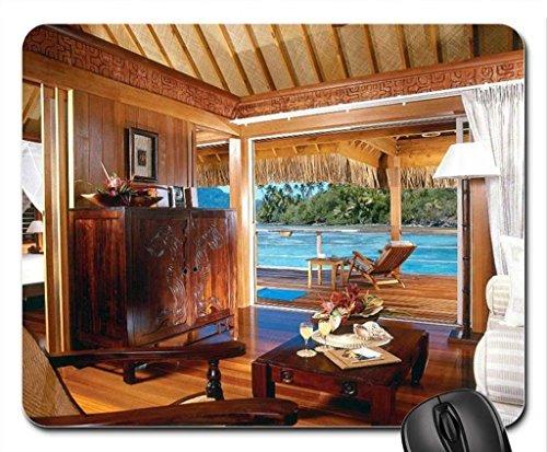 hilton-acqua-villa-bungalow-bora-bora-polinesia-mouse-pad-mousepad-beaches-mouse-pad