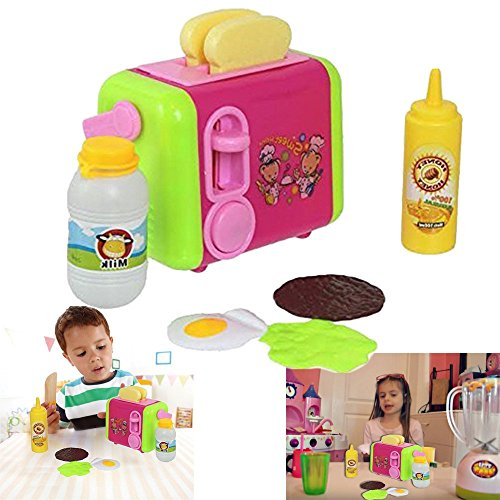 Dazzling Toys Delicious Pop-up Toaster Play Set Children's Pretend Play Kitchen (Play Toaster Oven compare prices)