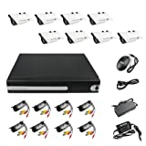 #!  8CH Channel Security System DVR Home Surveillance 4 TB with 8 Sony CCD Outdoor Digital Camera