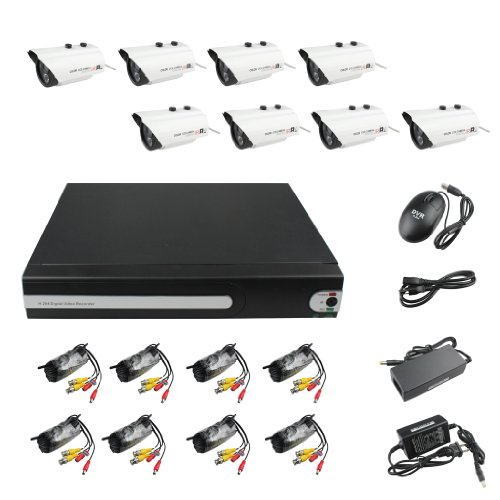 8CH Channel Security System DVR Home Surveillance 4 TB with 8 Sony CCD Outdoor Digital Camera image