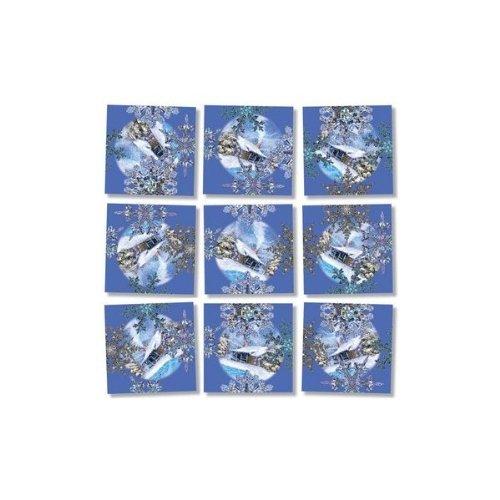 Scramble Squares Puzzle Snowflakes - 1