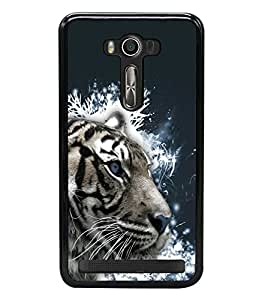 printtech White Tiger Face Back Case Cover for Asus Zenfone 2 Laser ZE500KL , Asus Zenfone 2 Laser ZE500KL (5 Inches)