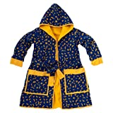 Child Polar Fleece Robe Blue Moon Stars Medium