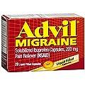 Advil® Migraine Liquid Filled Capsules 20ct 200mg Advanced Medicine For Pain (Pack of 2)