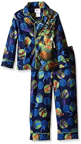 Teenage Mutant Ninja Turtles Big Boys' Ninja Protection 2-Piece Pajama Coat, Blue, 8