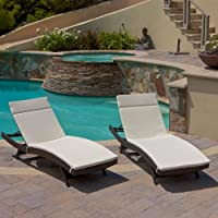 Outdoor Brown Wicker Adjustable Chaise Lounge - Set of 2 by Best Selling Home Decor Furniture LLC