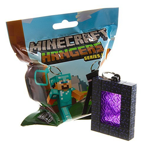 Official Minecraft Exclusive NETHER PORTAL Toy Action Figure Hanger - 1