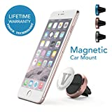 Car Mount Holder Vinious Air Vent Magnetic Car Mount Holder for iPhone 6, 6S, 5, 5S, 5C, iPod Touch, Samsung Galaxy S4, S5, S6 and Other Smart Phones (Rose Gold)