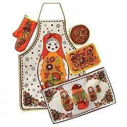 'Babushka' Kitchen Textile Set (5 Pc.)