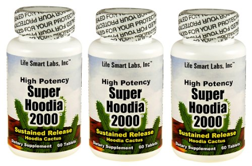 2000 mg Time Released Super Hoodia 2000 Appetite Suppressant Hoodia diet pills 180 pills 3 Months