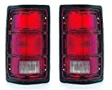 81-93 Dodge Ram Truck 1500 2500 3500 Taillight with black trim Pair Set 81-93 Dodge Ramcharger Driver and Passenger