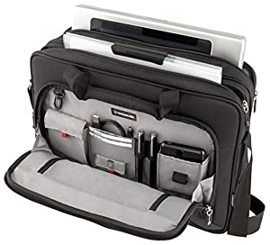 "Wenger 600649 PROSPECTUS 16"" Laptop Briefcase , Padded laptop compartment with iPad/Tablet / eReader Pocket in Black 15 Litres by Wenger"