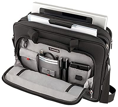 """Wenger 600649 PROSPECTUS 16"""" Laptop Briefcase , Padded laptop compartment with iPad/Tablet / eReader Pocket in Black 15 Litres by Wenger"""