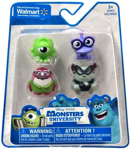 Disney / Pixar Monsters University Exclusive 1 Inch Mini Figure 4-Pack Mike Wazowski, Don Carlton & 2x TBA - 1