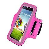 Outstanding Value Slim Fit Hot Pink Running cubierta de la caja del brazal para i9500 Samsung Galaxy S4 SIV