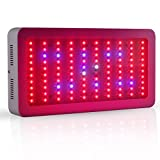 Galaxyhydro 300w LED Grow Light Full Spectrum for Plants Veg and Flower, Added Daisy Chain Function, and Larger Size Plant Light
