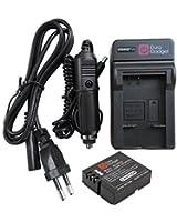 Chargeur 2 en 1 DURAGADGET pour mini caméscope PNJ AEE MAGICAM SD18, SD19, SD21 / SD21G, SD23 (Naked) & 23G, et SD100 - adaptateur secteur et voiture + 1 batterie D30 / DS-SD20 de rechange Li-ion 1000mAH