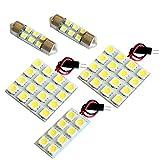【断トツ132発!!】 T31 エクストレイル(サンルーフ無し車) LED ルームランプ 5点セット [H19.8~H25.12] ニッサン 基板タイプ 圧倒的な発光数 3chip SMD LED 仕様 室内灯 カー用品 HJO