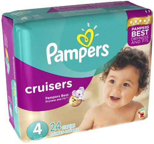 Pampers Cruisers Diapers - Size 4 - 24 ct - 1