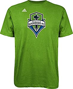 MLS Seattle Sounders FC Logo Men's Set Tee, Large, Rave Green