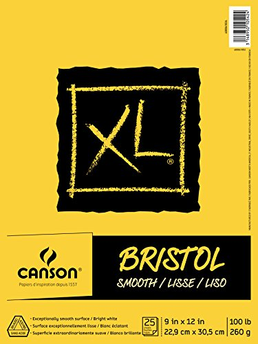 canson-xl-series-bristol-pad-9x12-smooth-fold-over