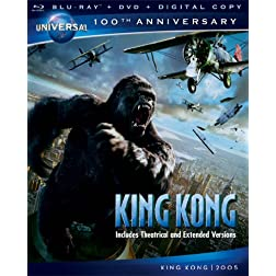 King Kong [Blu-ray + DVD + Digital Copy] (Universal's 100th Anniversary)