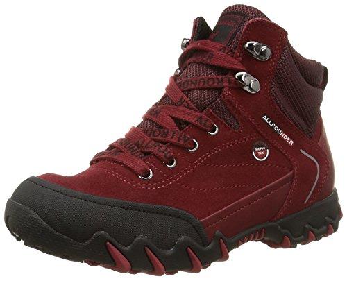 NIGATA-TEX RUBBER 1/O.SUEDE 48, Damen Kurzschaft Stiefel, Rot (BLACK/MID RED), 40 EU (6.5 Damen UK)