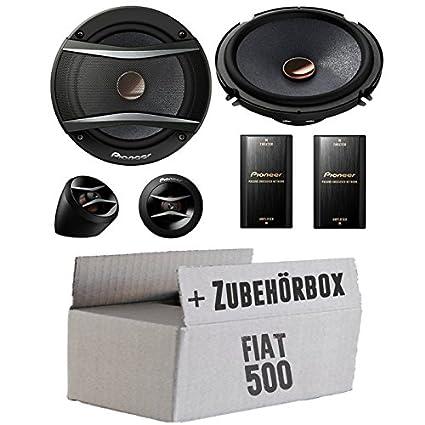 FIAT 500-Pioneer TS a173ci 2voies 16cm Système de haut-parleur avant-Kit de montage