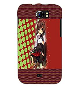 PrintDhaba Sweet Girl D-4086 Back Case Cover for MICROMAX A110Q CANVAS 2 PLUS (Multi-Coloured)