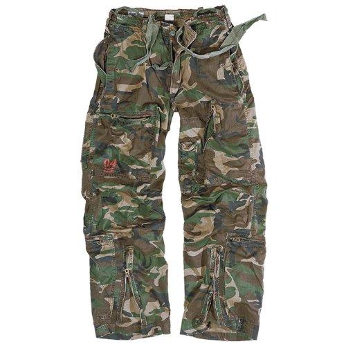 Surplus US Infantry Cargo Trousers Mens Combats Woodland Camo