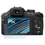 3 x atFoliX Panasonic Lumix DMC-FZ150 Schutzfolie Folie - FX-Clear kristallklar