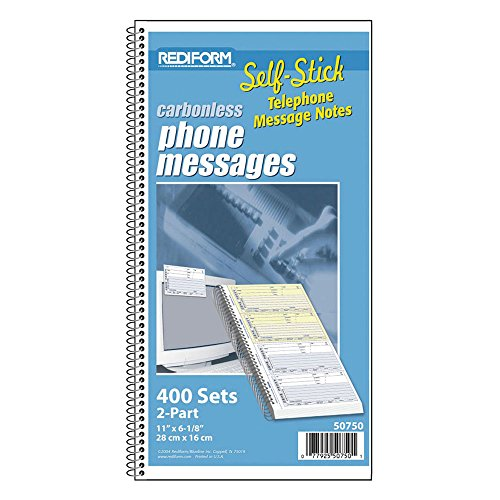 rediform-telephone-message-book-self-adhesive-275-x-5-4-per-page-400-messages-50750-