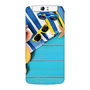 Gorgeous Cool Beach Print Back Case Cover for Oppo N1