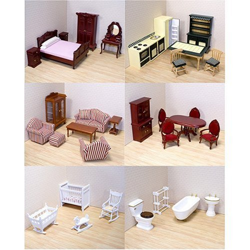 Victorian Dollhouse Dining Room Furniture