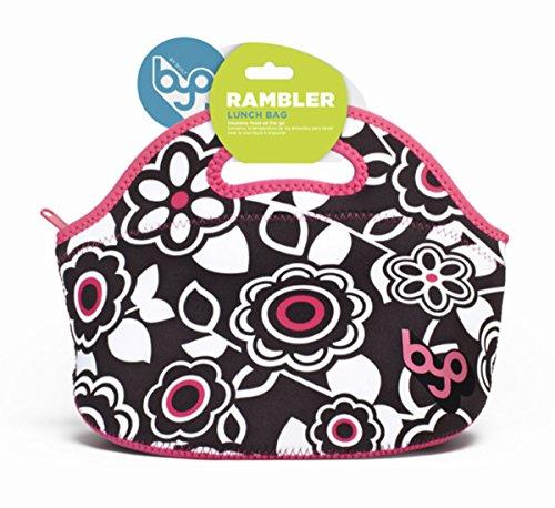 BUILT NY Rambler Designer Neoprene Insulated Lunch Bag, Pop Garden Black (B-LB35-PGC) - 1