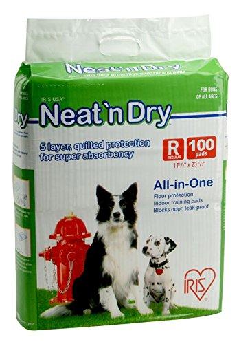 IRIS Neat 'n Dry Premium Pet Training Pads, Regular, 100 Count (Animal Training Pads compare prices)