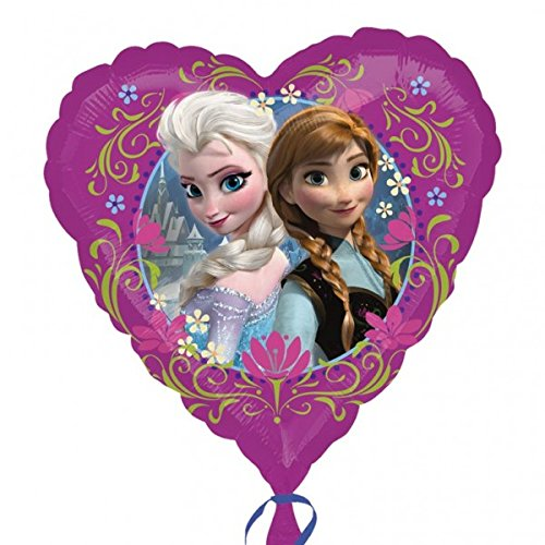 "Disney's Frozen Foil Balloons 18"" Purple Heart Shape (2 Balloons)"