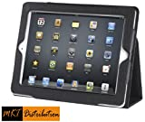 iPad 4 Case - New iPad (4th Gen) iPad 3 Case and iPad 2 Leather Case Cover with Built-in Stand and Premium Interior - Automatically Wakes and Puts Your iPad 4 - iPad 3 and iPad 2 to Sleep Every Time - (Black) by MKT iPad Cases